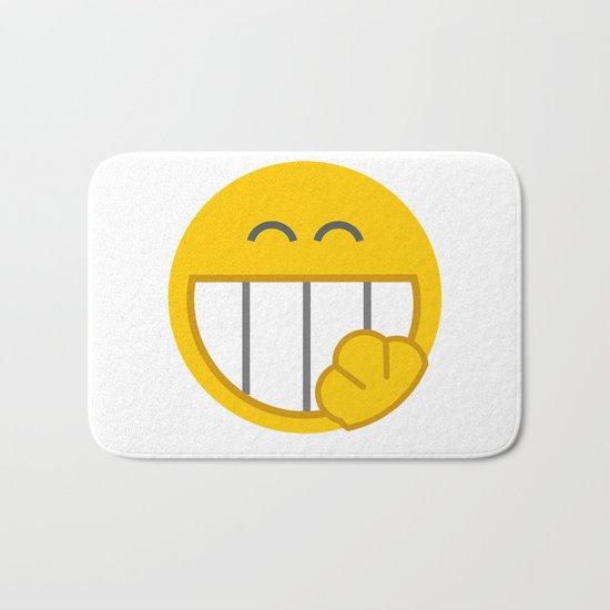 yellow smile Bath Mat