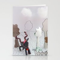 farm Stationery Cards featuring Farm by Kirsten zuiderbaan