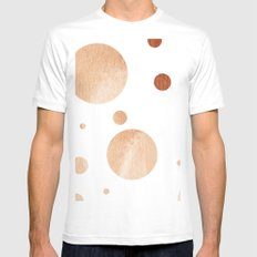 Polka dots Mens Fitted Tee MEDIUM White