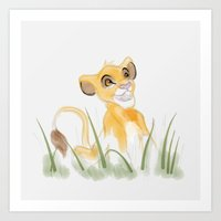 simba Art Prints featuring SIMBA by Sylbi Lee