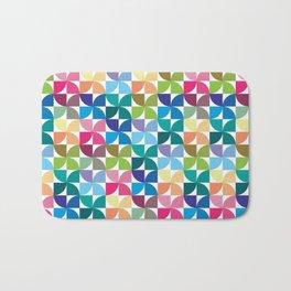 Geometric Pattern 1 (Colorful semicircle) Bath Mat