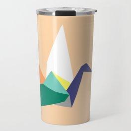 Swan, original colours on peach Travel Mug