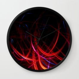 Abstract red and blue light effect Wall Clock
