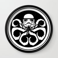hydra Wall Clocks featuring Hydra Trooper by Don Calamari