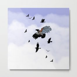Cyborg Bird Metal Print