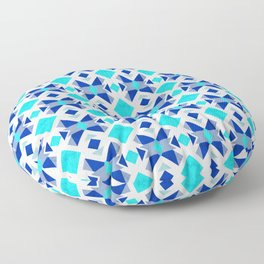 Morrocan blue tiles with marble texture Floor Pillow