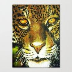 Wildlife Animal Painting - Jaguar Canvas Print