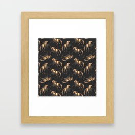 Golden Renaissance Horses Framed Art Print