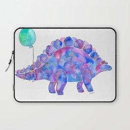 Tie Dye Stegosaurus with Balloon Laptop Sleeve