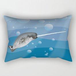Gnarly Narwhal Rectangular Pillow