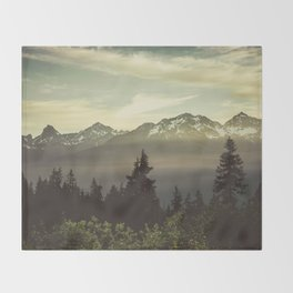 Morning in the Mountains Throw Blanket