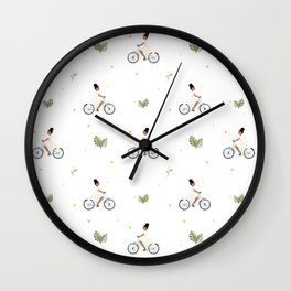 Bike Ride Pattern Wall Clock