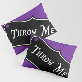 """""""Throw Me"""" Alice in Wonderland styled Bottle Tag Design in 'Shy Violets' Pillow Sham"""