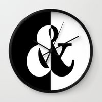 black white Wall Clocks featuring Black & White by Beautiful Homes