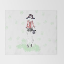 Summer Marinette Throw Blanket