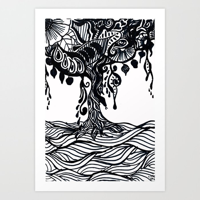 Henna Design 9 Tree Of Life Art Print By Leprowler Society6