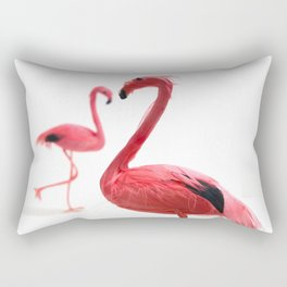 Pink Flamingos with Heart Rectangular Pillow