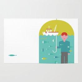 Umbrella print Rug