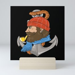 Bearded Skipper Design Mini Art Print