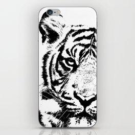 Black & White Tiger iPhone Skin