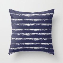 Irregular Stripes Dark Blue Throw Pillow