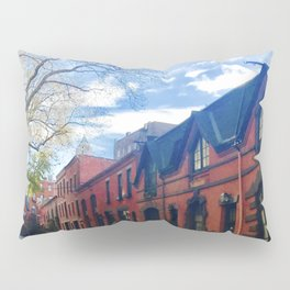 STOP For Brooklyn Heights Brownstone Red Brick Love Pillow Sham