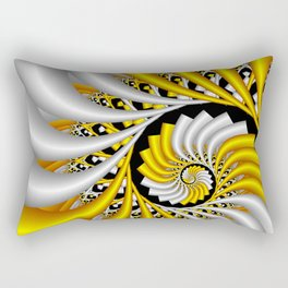spirals in gold and white Rectangular Pillow