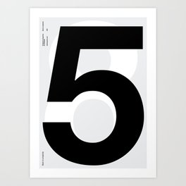 Helvetica Poster Nº5 by empatia Art Print