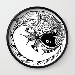 Paces & Iguanas Wall Clock