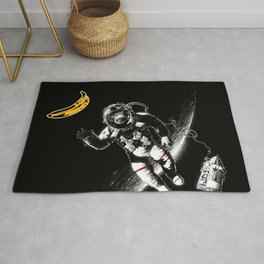 Space Monkey (nd a place to be) Rug