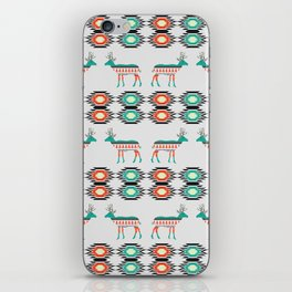 Festive deer pattern iPhone Skin