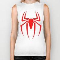 spider man Biker Tanks featuring Spider Man by Sport_Designs