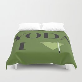 I heart Yoda Duvet Cover