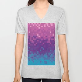 Pixel color Unisex V-Neck