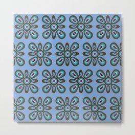 Floral Mosaic Modern Metal Print