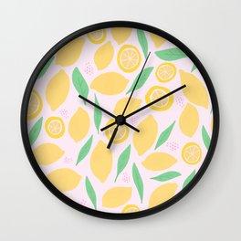Pink Lemonade II Wall Clock