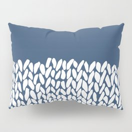 Half Knit Navy Pillow Sham