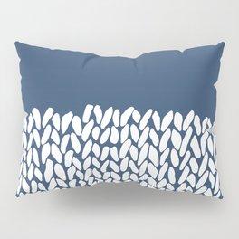 Half Knit Navy Pillow Sham
