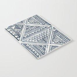 Simply Tribal Tile in Indigo Blue on Lunar Gray Notebook