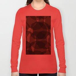 Brown abstract Long Sleeve T-shirt