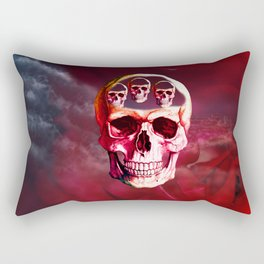 Funny Skull Rectangular Pillow