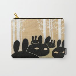 Suspicious Bunnies Carry-All Pouch