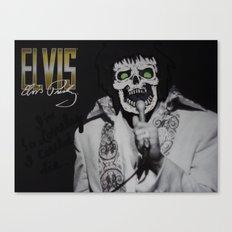 Elvis is Dead Canvas Print
