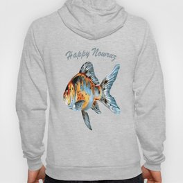 Happy Nowruz Shubunkin Goldfish Persian New Year Hoody