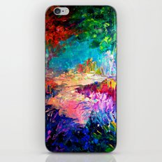 WELCOME TO UTOPIA Bold Rainbow Multicolor Abstract Painting Forest Nature Whimsical Fantasy Fine Art iPhone & iPod Skin