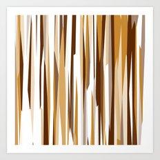 Golden Wood Grain Art Print