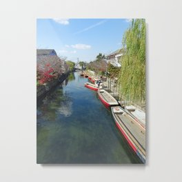 yanagawa canal punts Metal Print