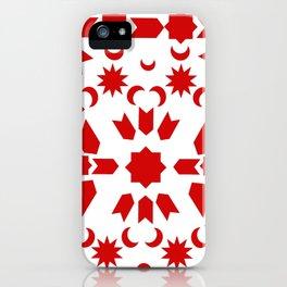 Red Arabesque iPhone Case