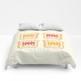 Cute Kawaii Peanut Butter and Jelly Toast Comforters