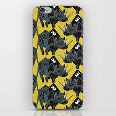 rhinoceros yellow iPhone & iPod Skin